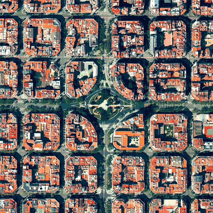 Plaça de Tetuan Barcelona Spain