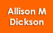 Allison M Dickson Uk coupons