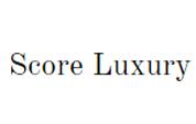 Score Luxury coupons