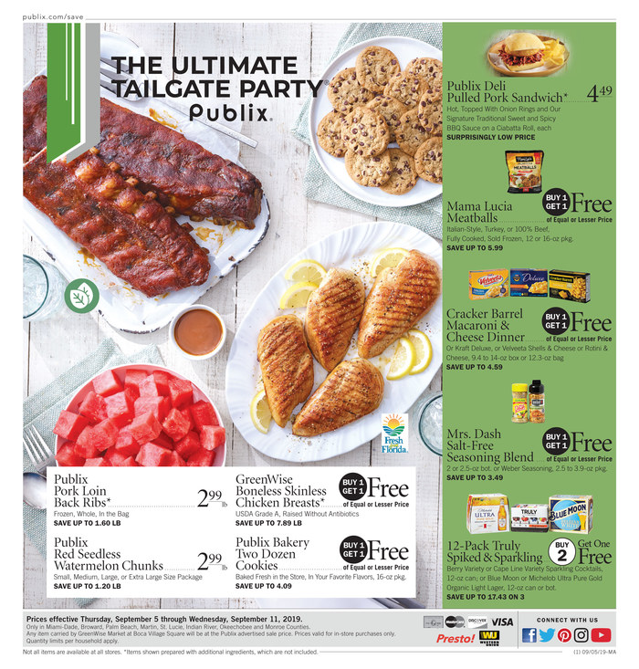 Publix Weekly Ad (9/5/19 - 9/11/19) Early Preview