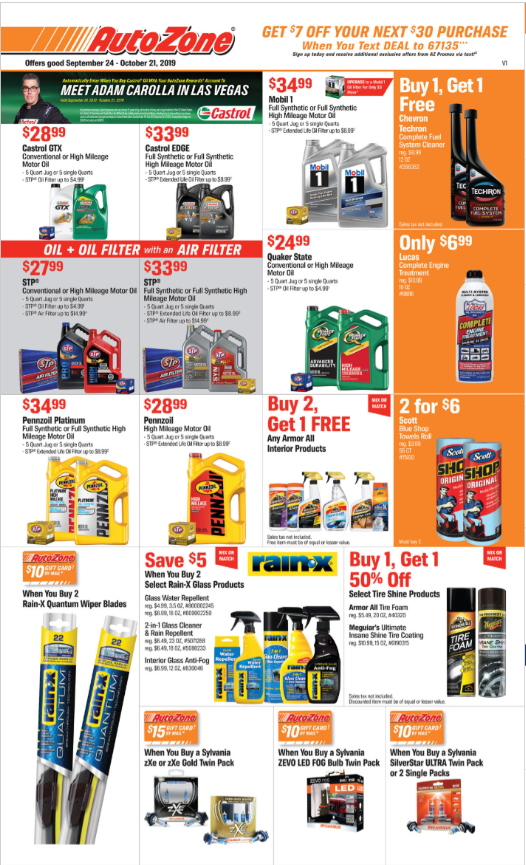 Autozone Weekly Ad (9/24/19 - 10/21/19) Early Preview