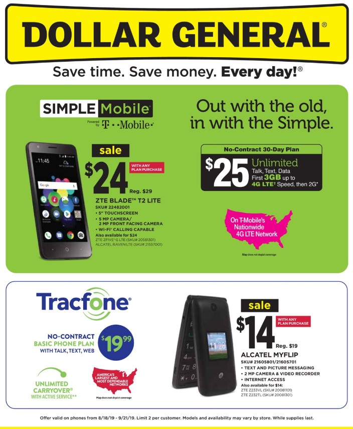 Dollar General Weekly Ad (8/18/19 - 9/21/19) Early Preview
