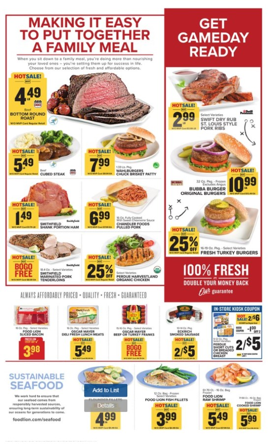 Food Lion Weekly Ad (9/4/19 - 9/10/19) Early Preview