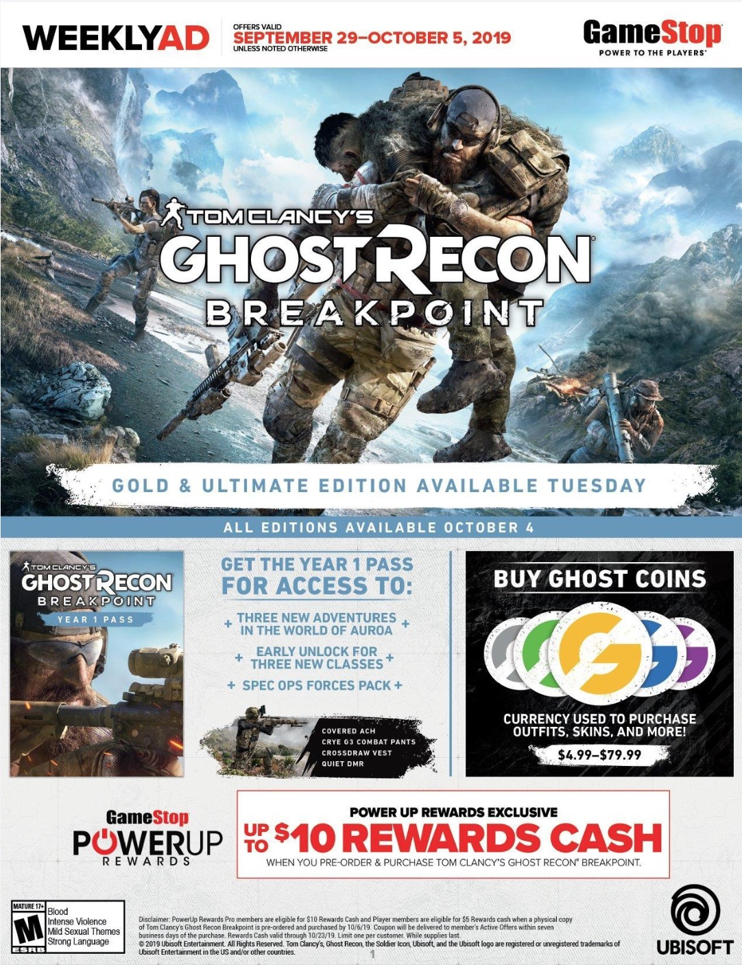 Gamestop Weekly Ad (9/29/19 - 10/5/19) Early Preview