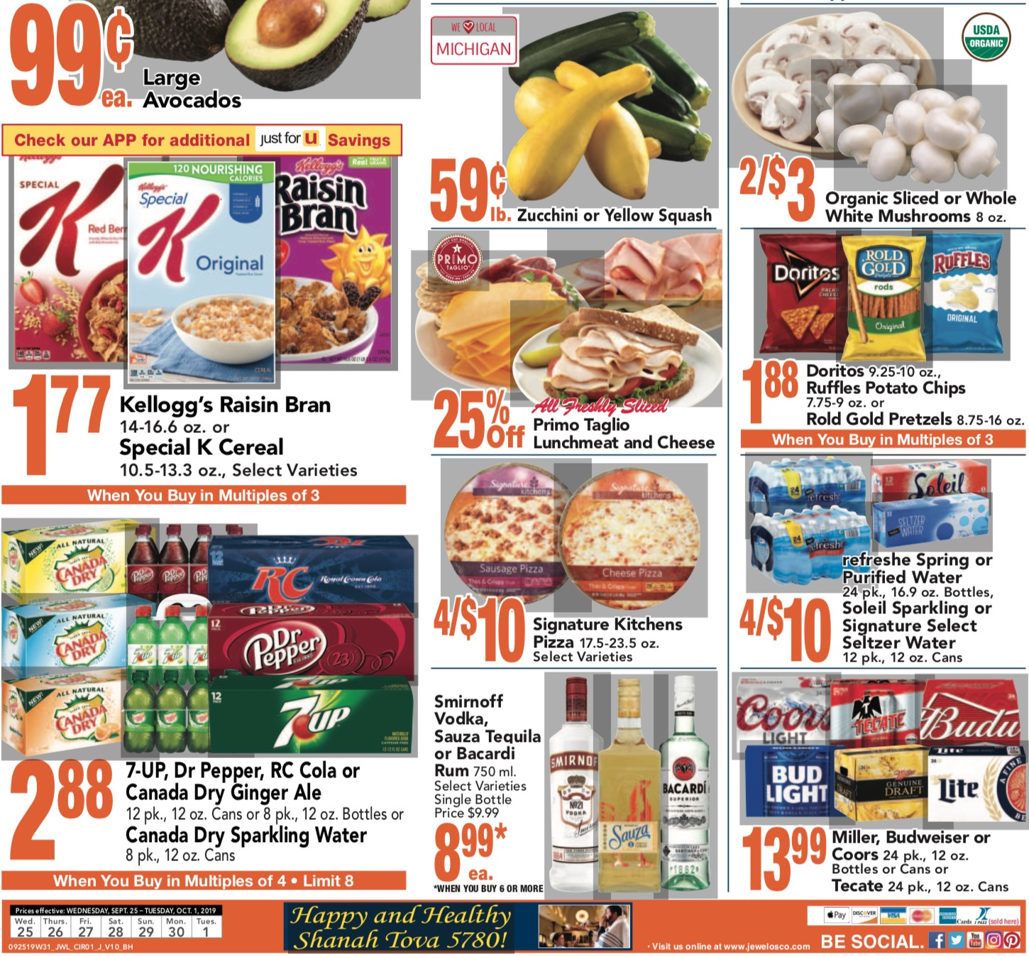 Jewel Osco Weekly Ad (10/2/19 - 10/8/19) Early Preview