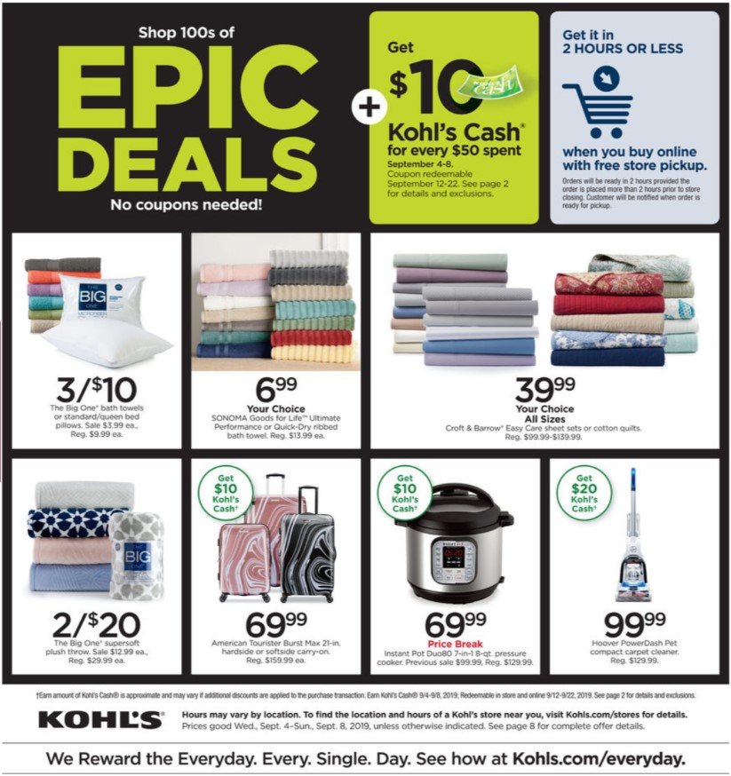 Kohl's Weekly Ad (9/4/19 - 9/8/19) Early Preview