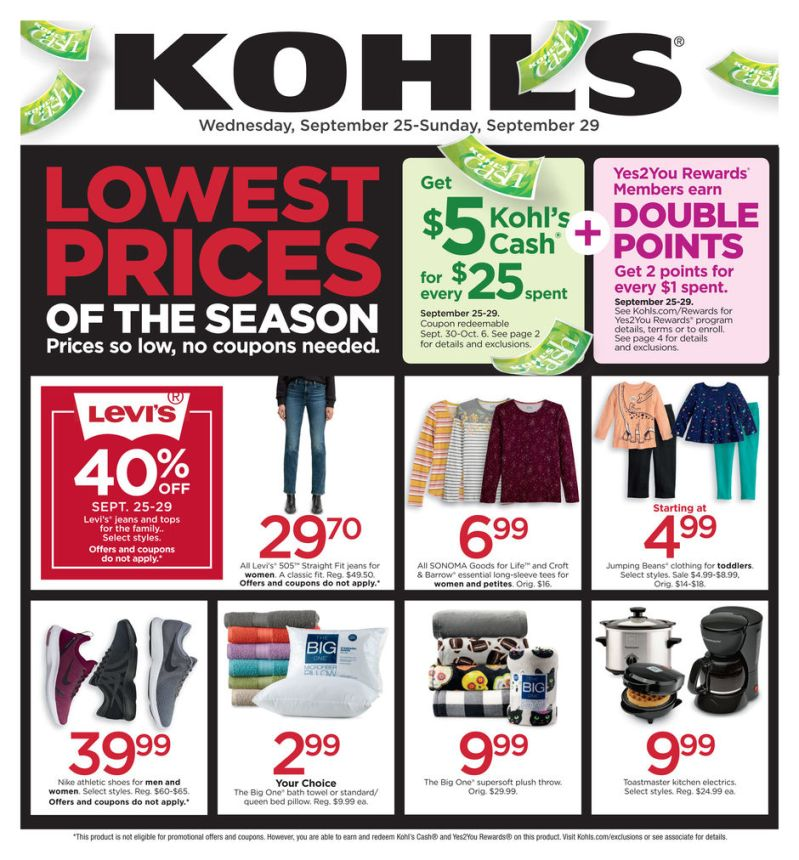 Kohl's Weekly Ad (9/25/19 - 9/30/19) Early Preview