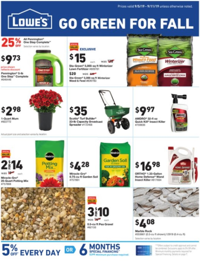 Lowes Weekly Ad (9/5/19 - 9/11/19) Early Preview