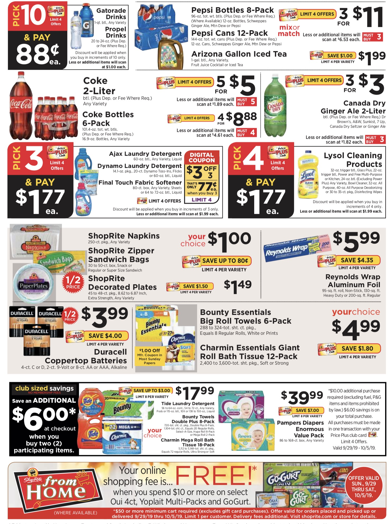 ShopRite Weekly Ad (9/29/19 - 10/5/19) Early Preview